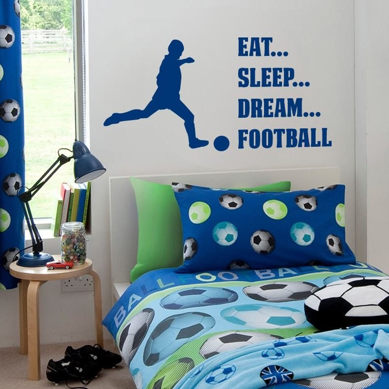 Eat, Sleep, Dream Football Wall Sticker Wall Sticker - Wall Chick