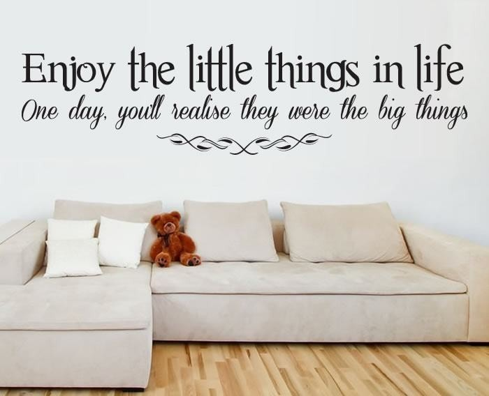 Enjoy The Little Things In Life. Wall Sticker Wall Sticker - Wall Chick