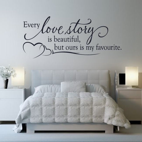 Every Love Story Wall Sticker - Wall Chick