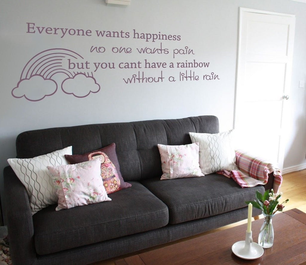 Everyone Wants Happiness Wall Sticker - Wall Chick