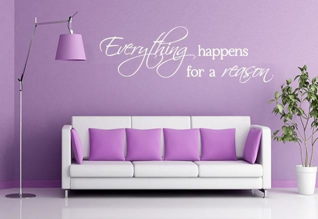 Everything Happens for a Reason Wall Sticker - Wall Chick