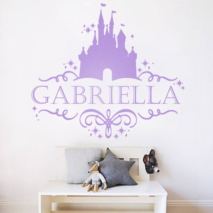 Fairy Tale Castle with Name Wall Sticker - Wall Chick