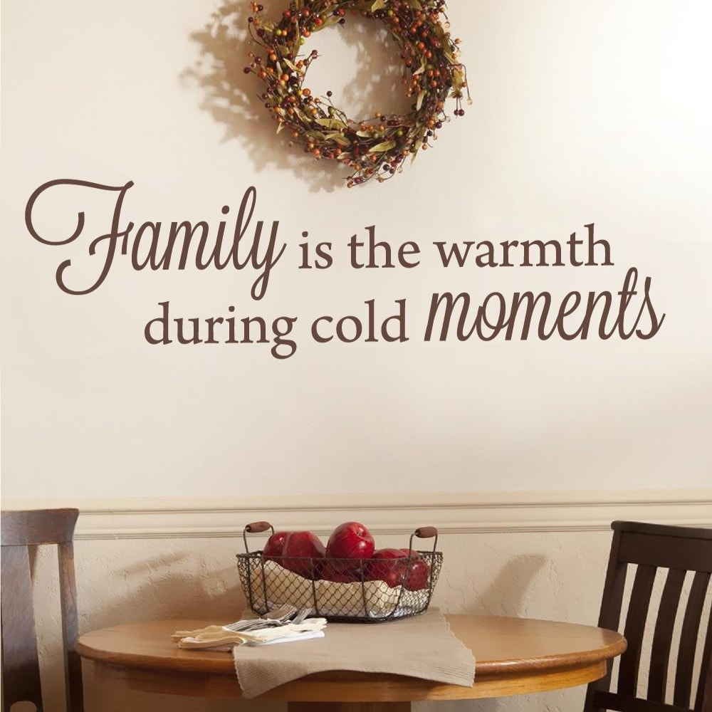 Family is the Warmth Wall Sticker - Wall Chick