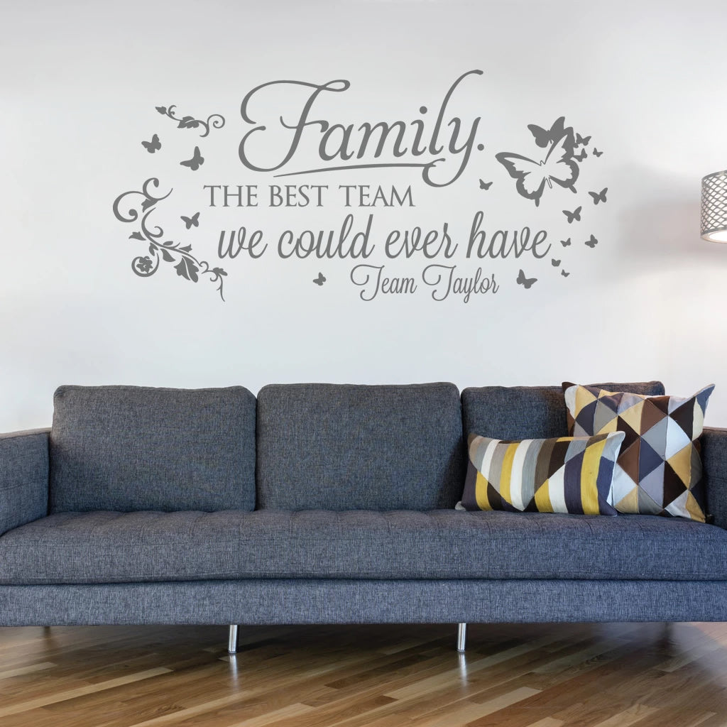Family - The Best Team Wall Sticker
