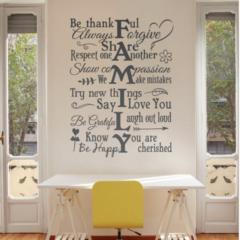 Family Vertical Wall Sticker Wall Sticker - Wall Chick