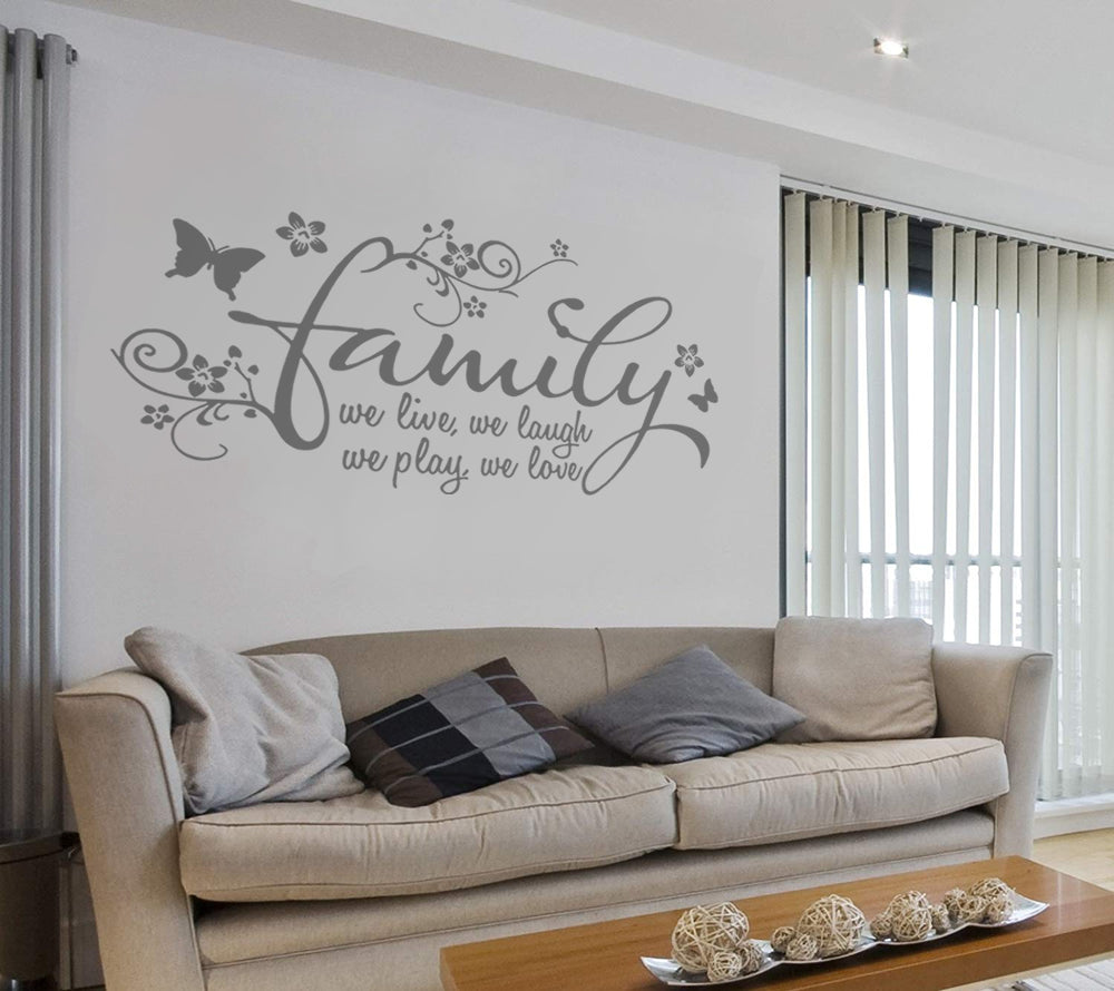 Family - We Live Wall Sticker