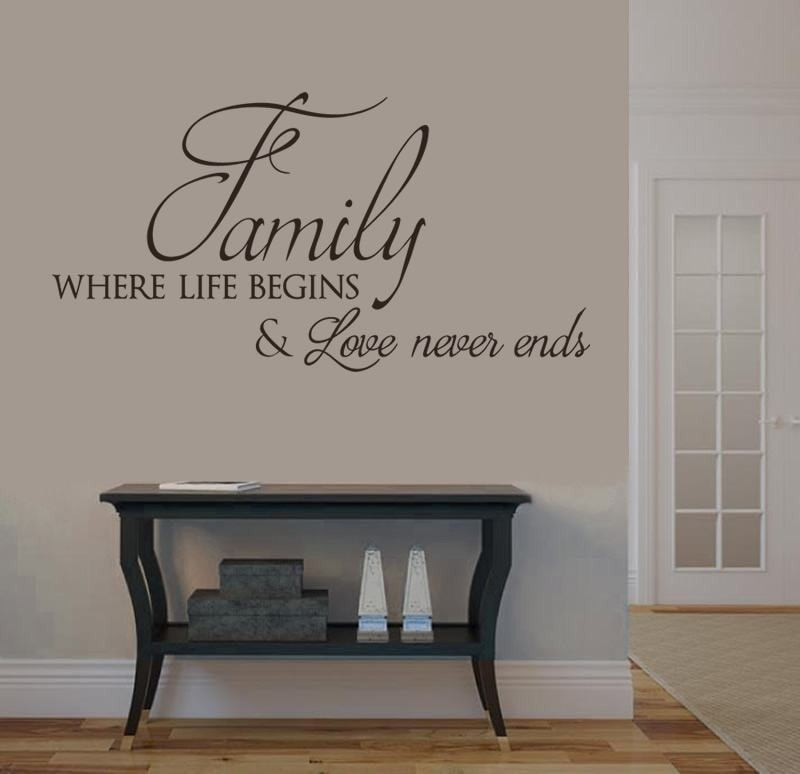 Family - Where Life Begins Wall Sticker Wall Sticker - Wall Chick