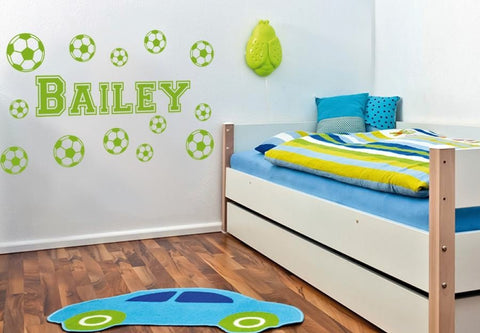 Footballs with name Wall Sticker Wall Sticker - Wall Chick