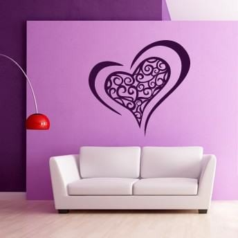 Funky Heart Wall Sticker Wall Sticker - Wall Chick