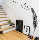 Giant Feather Wall Sticker