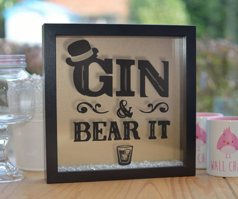 Gin and Bear It Glitter Frame