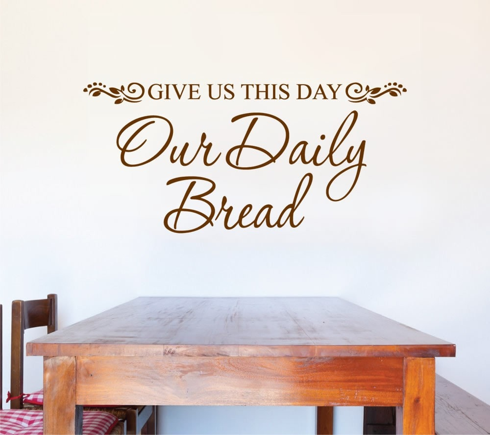 Give Us This Day Wall Sticker Wall Sticker - Wall Chick