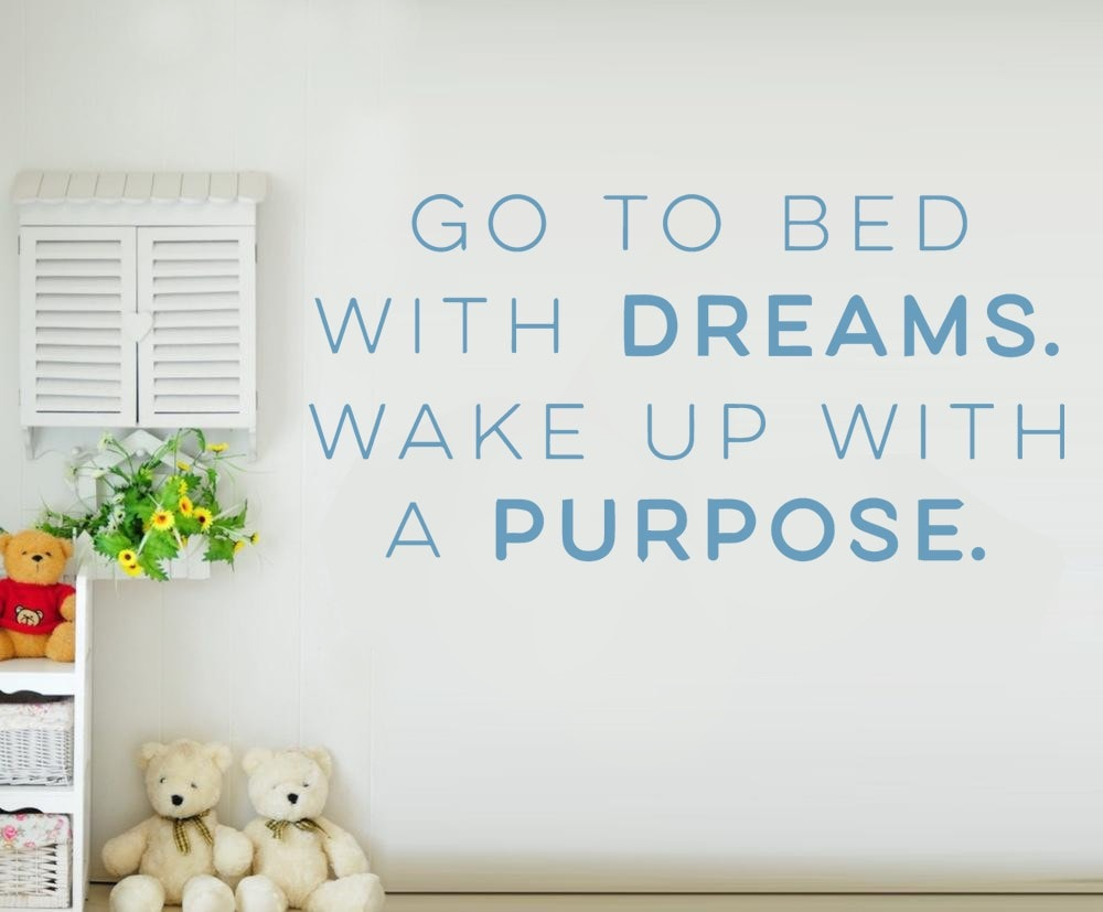 Go To Bed With Dreams Wall Sticker Wall Sticker - Wall Chick