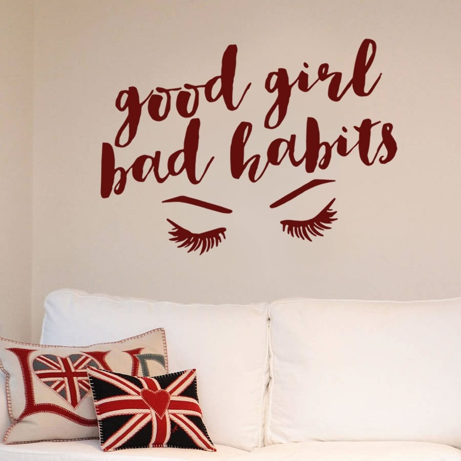 Good Girl Bad Habits Wall Sticker Wall Sticker - Wall Chick