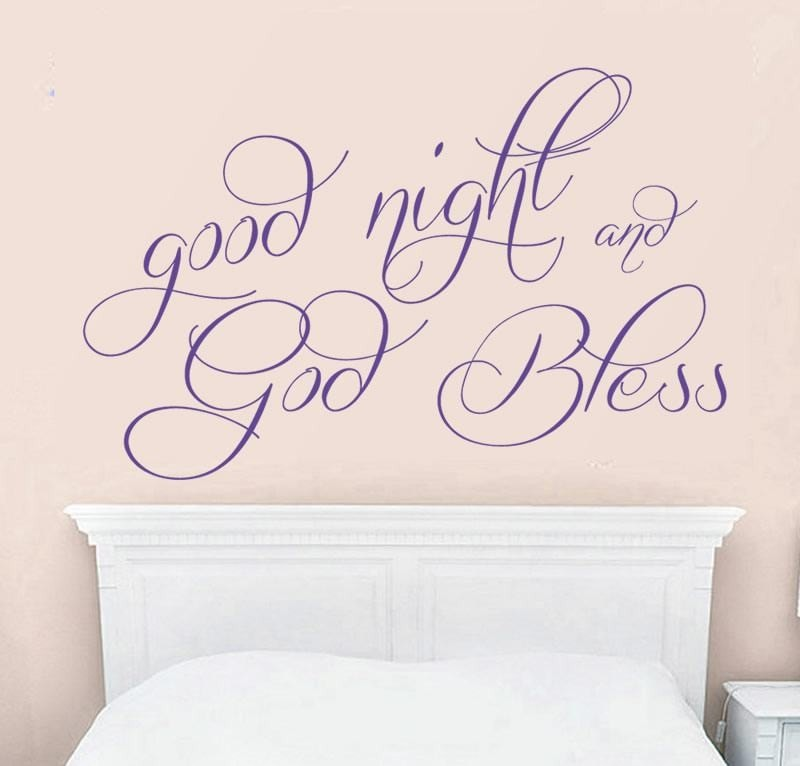Good Night and God Bless Wall Sticker - Wall Chick