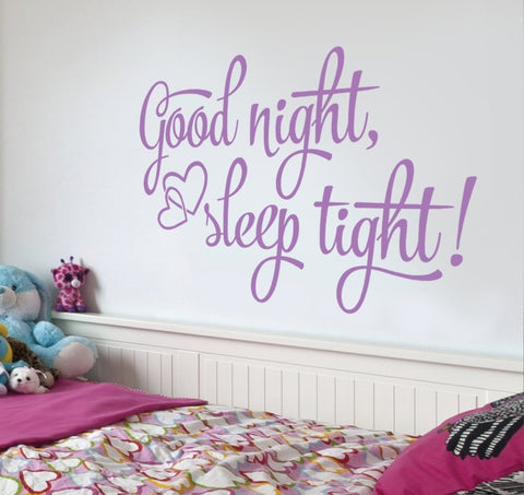 Good Night Sleep Tight Wall Sticker - Wall Chick
