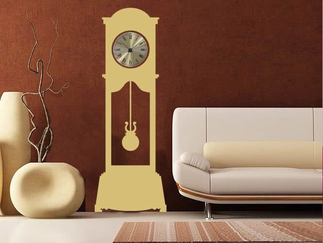 Grandfather Clock Wall Sticker - Wall Chick