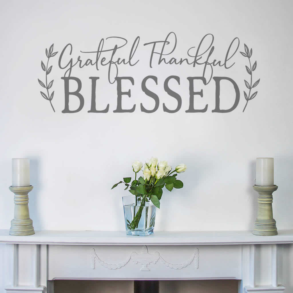 Grateful Thankful Blessed Wall Sticker