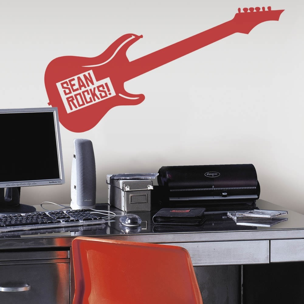 Guitar Rocks Wall Sticker - Wall Chick