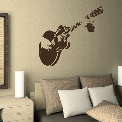 Guitar Player Wall Sticker Wall Sticker - Wall Chick