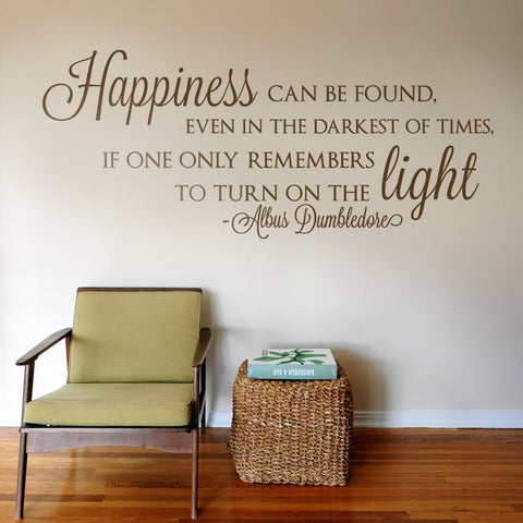 Happiness Can Be Found Wall Sticker - Wall Chick