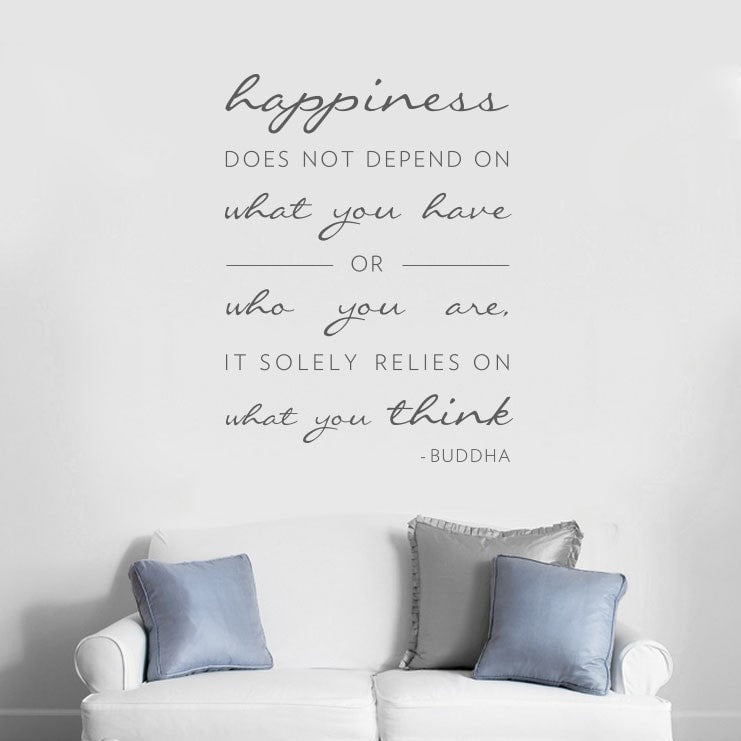 Happiness Does Not Depend Wall Sticker Wall Sticker - Wall Chick