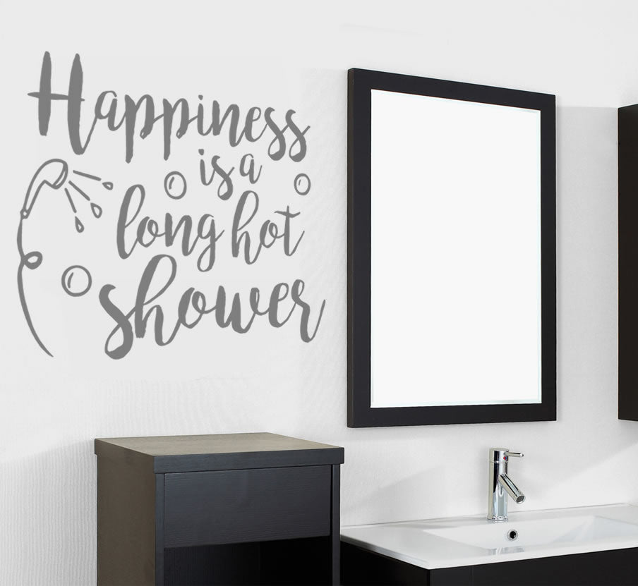 Happiness is a Long Hot Shower Wall Sticker