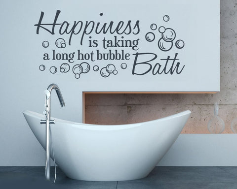 Happiness Bath Wall Sticker - Wall Chick