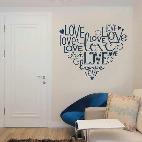 Heart of Love Wall Sticker Wall Sticker - Wall Chick