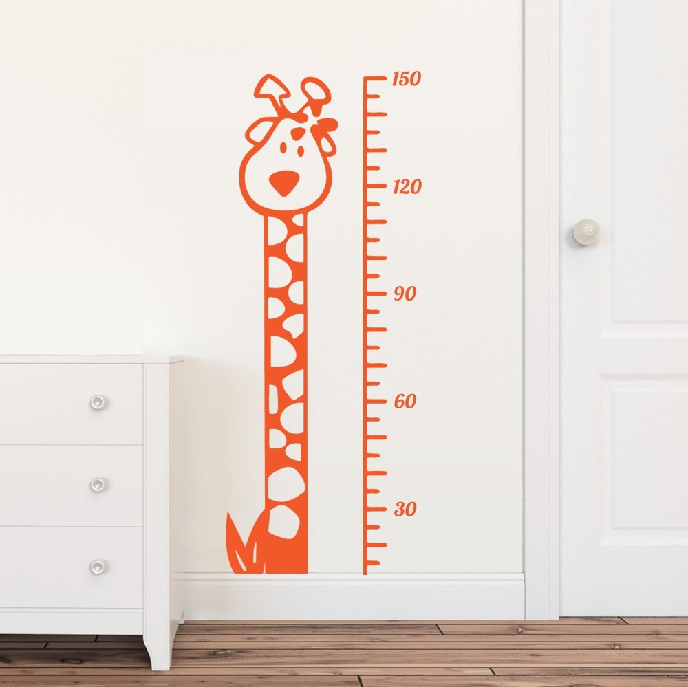 Giraffe Height Chart Wall Sticker Wall Sticker - Wall Chick