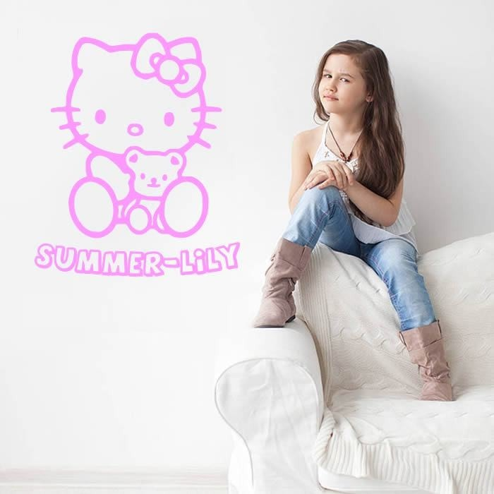 Hello Kitty with Name Wall Sticker Wall Sticker - Wall Chick