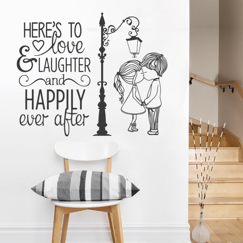 Love and Laughter Couple Wall Sticker - Wall Chick