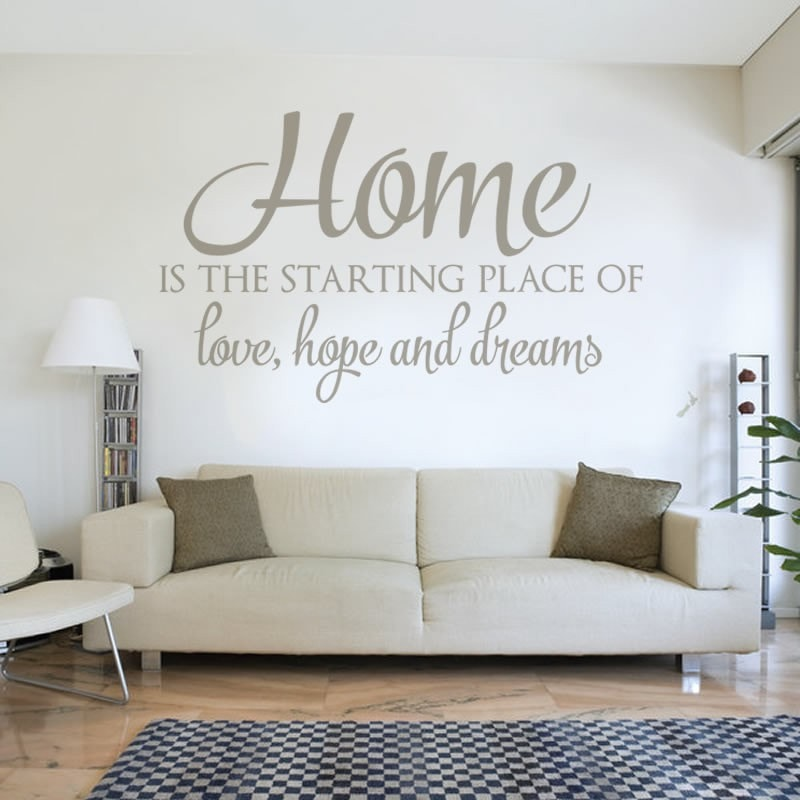 Home is The Starting Place Wall Sticker Wall Sticker - Wall Chick