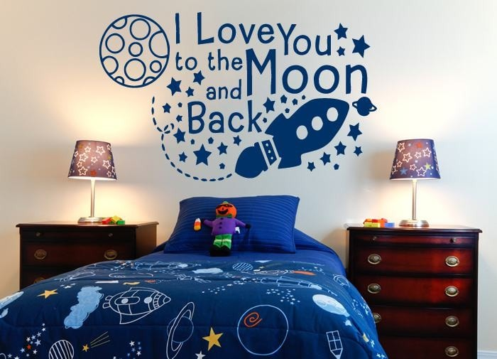 I Love You to the Moon and Back Wall Sticker - Wall Chick