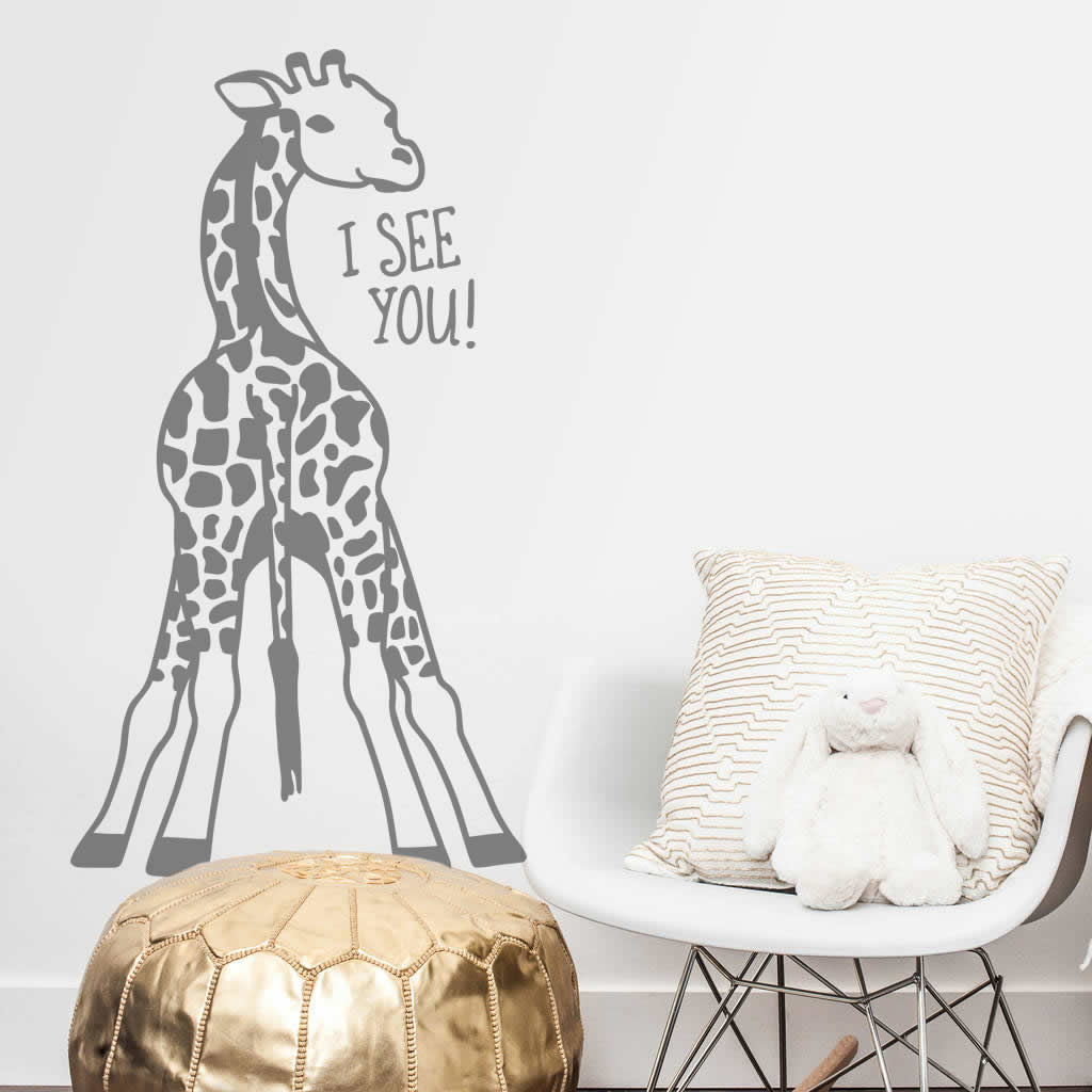 I See You Baby Giraffe Wall Stickers
