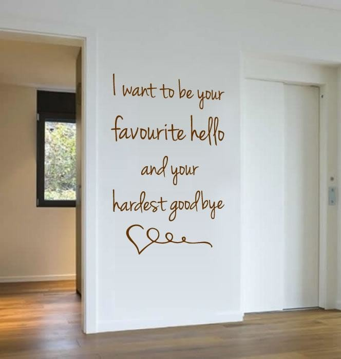 I Want To Be Your Favourite Hello Wall Sticker - Wall Chick
