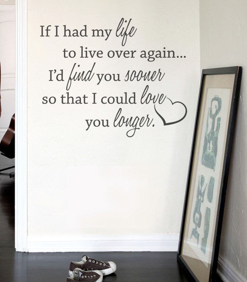 If I Had my Life Wall Sticker - Wall Chick