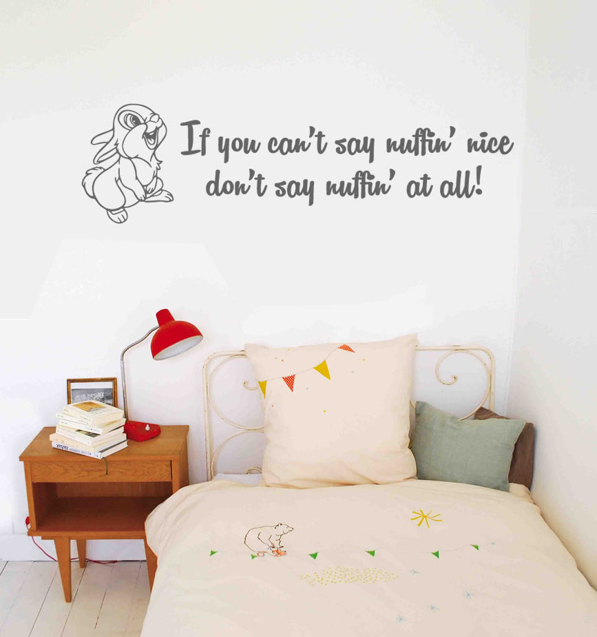 If You Can't Say Nuffin Nice Thumper Wall Sticker
