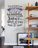 Im Not Just an Aunt Wall Sticker - Wall Chick