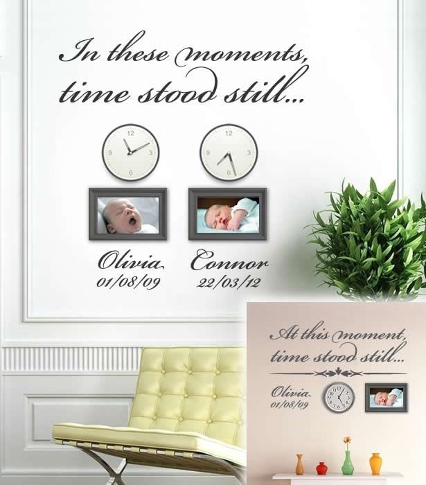 In These Moments Time Stood Still Wall Decal Wall Sticker - Wall Chick