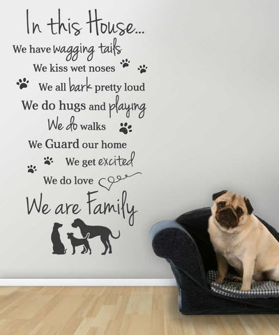 In This House   Dogs Version Wall Sticker   Wall Chick ...
