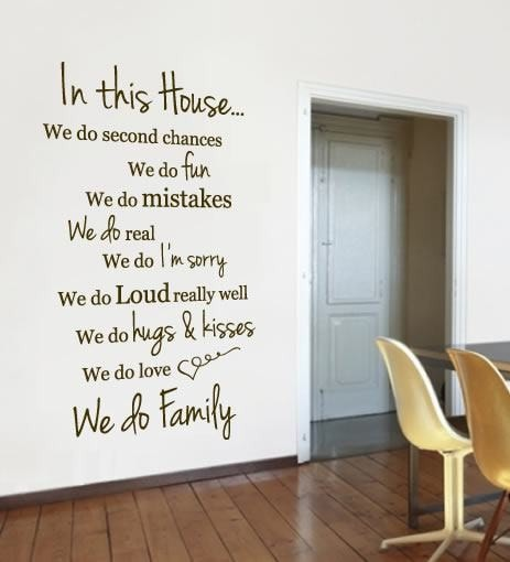 In This House Wall Sticker - Wall Chick
