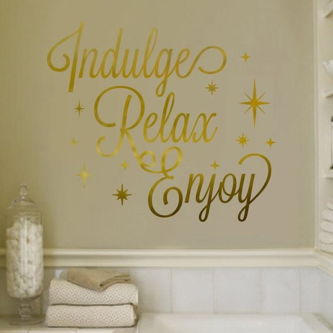 Indulge Relax Enjoy Wall Sticker - Wall Chick
