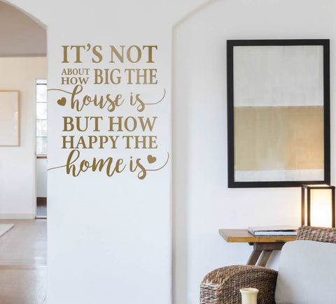 Its not about how big the house is Wall Sticker