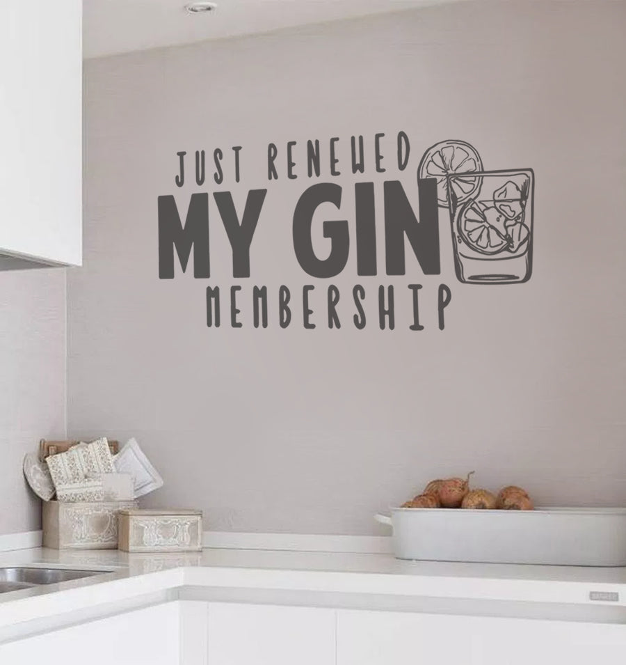 Just Renewed My Gin Membership