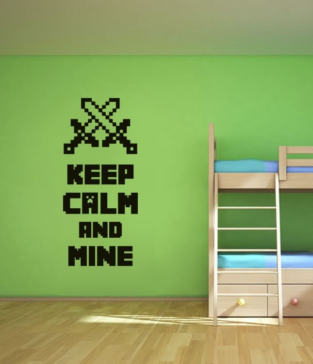 Keep Calm and Mine Wall Sticker - Wall Chick