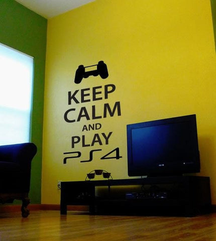 Keep Calm and Play PS4 Wall Sticker - Wall Chick