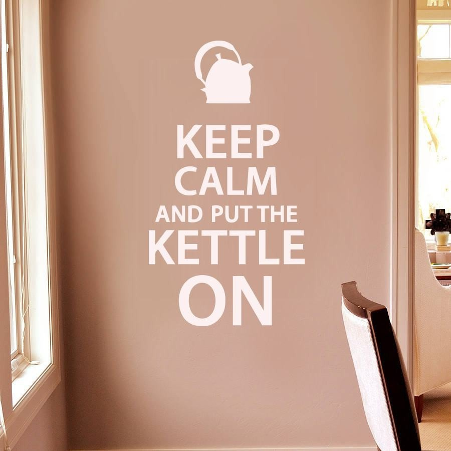 Keep Calm And Put The Kettle On Wall Sticker - Wall Chick
