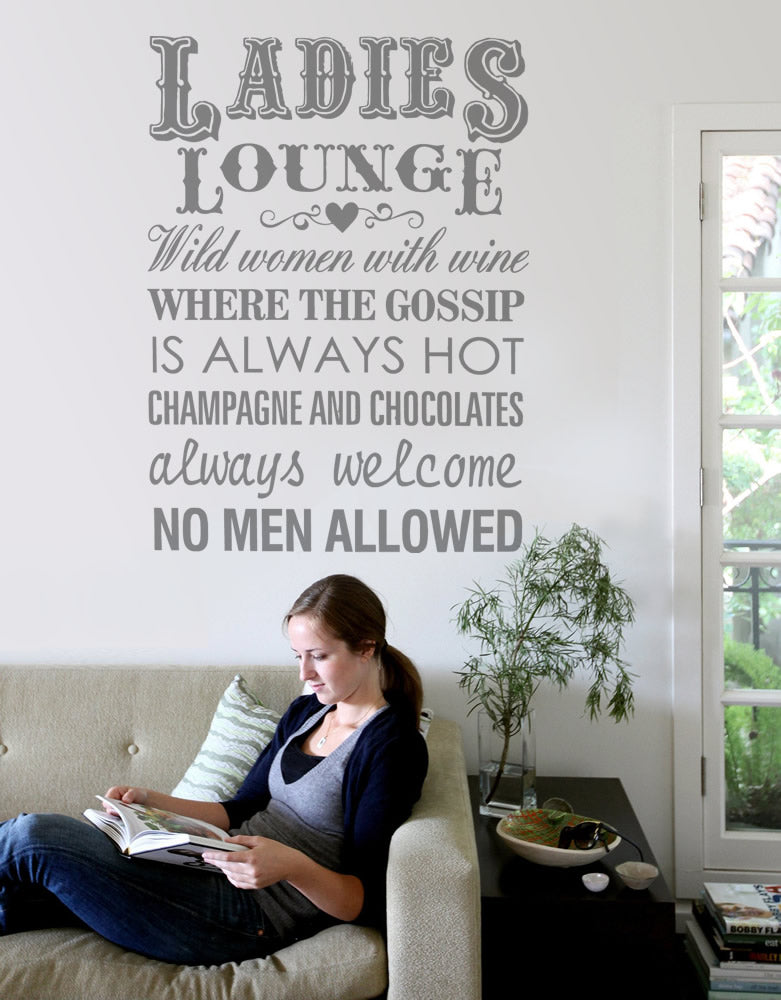 Ladies Lounge Tall Wall Sticker