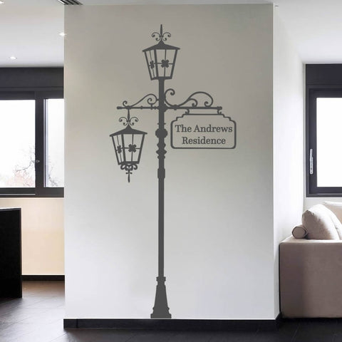 Personalised Lamppost Wall Sticker - Wall Chick